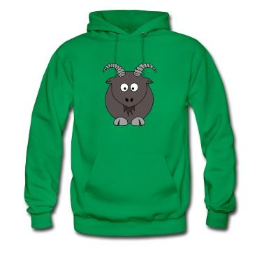 A carzy looking billy goat design.