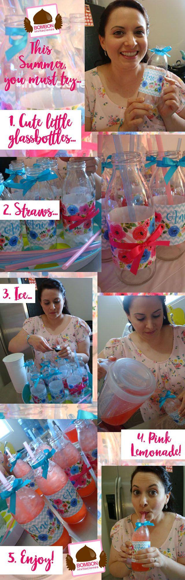 #Pinklemonade #pink #lemonade #summer #glassbottle #watercolor #flowers #glass #bottle #cute #little #blue #birthday #birthdaygirl #birthdayparty #label #straws #straw #party #water #ice #fresh #design #graphicdesign #invitacionesbombon https://www.facebook.com/InvitacionesBOMBONLANDIA/