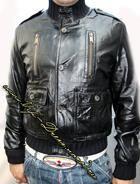 Кожаная куртка gucci madonna