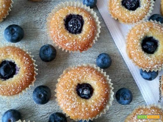 Mini muffin ai mirtilli freschi e vaniglia  #ricette #food #recipes