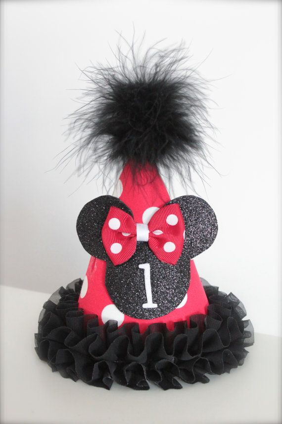 Minnie Mouse Inspired Red White and Black  by LilBirdsCouture, $13.95