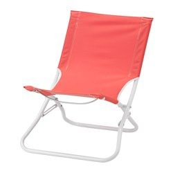 IKEA - HÅMÖ, Beach chair, foldable/light red, , Made of heavy polyester fabric, which is very durable.This chair is easy to pack and carry since it is both lightweight and foldable.