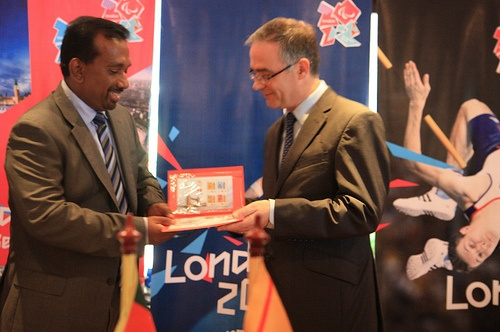 SRI LANKA: The commemorative stamps and first day cover for the London 2012 Olympic Games were launched at a reception hosted by the British High Commissioner, H E John Rankin.