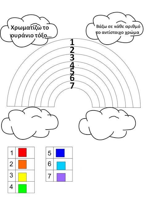 Δραστηριότητες, παιδαγωγικό και εποπτικό υλικό για το Νηπιαγωγείο: Τα χρώματα στο Νηπιαγωγείο: χρωματίζοντας το Ουράνιο Τόξο