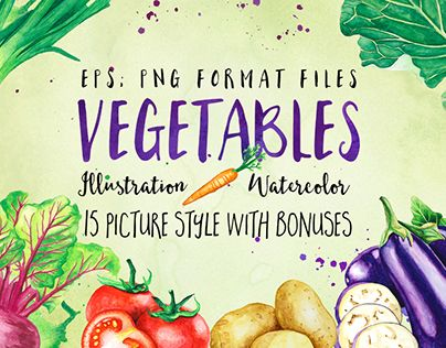 """Check out new work on my @Behance portfolio: """"Vegetables Watercolor Illustration"""" http://be.net/gallery/51691359/Vegetables-Watercolor-Illustration"""