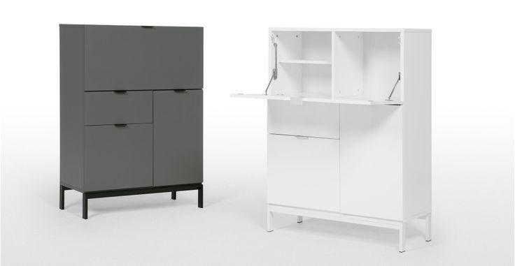 Marcell Desk Bureau, White | made.com