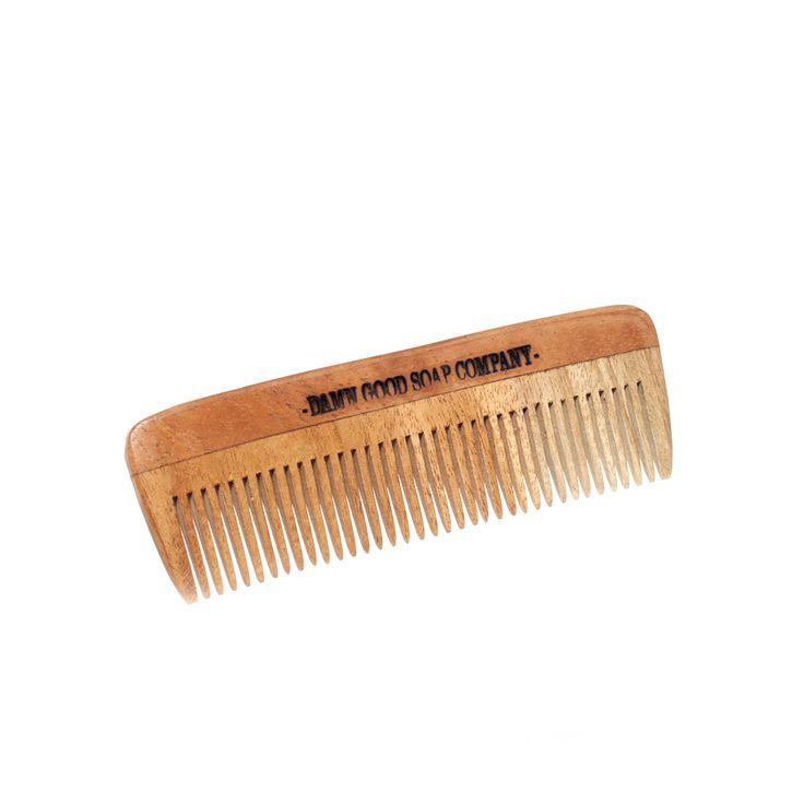 Grzebień do brody i wąsów Damn Good Soap Company #beard #beardcare #BeardManPL