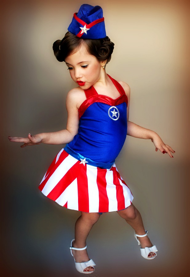 my daugher kd as a wwii uso girl for halloween my son was wwii captain america they were so. Black Bedroom Furniture Sets. Home Design Ideas