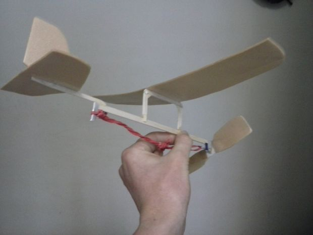 Picture of Rubber Band Powered Aeroplane. PAP can be used