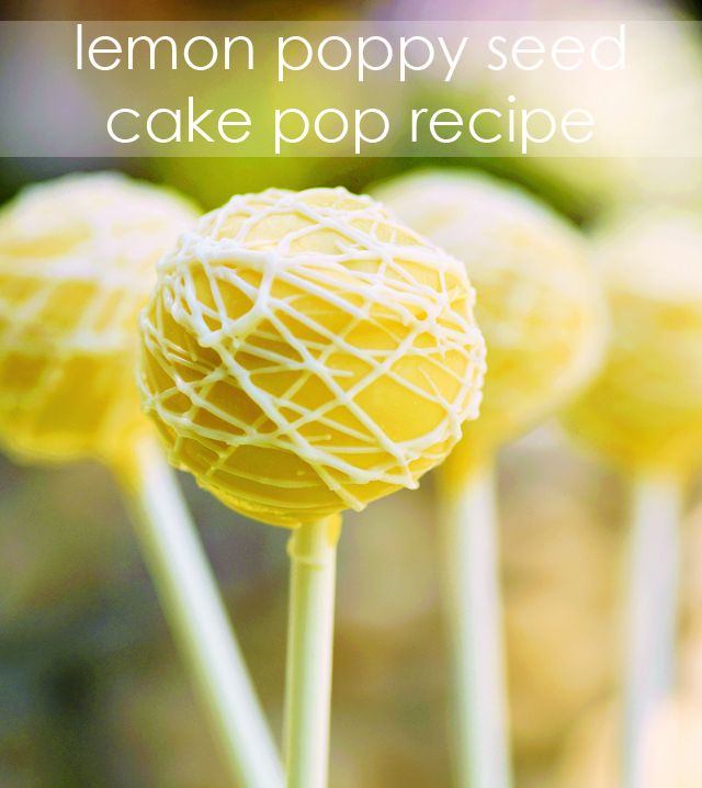 Bring on Spring! We love these Lemon Poppy Seed Cake Pops - #recipe #cakepop