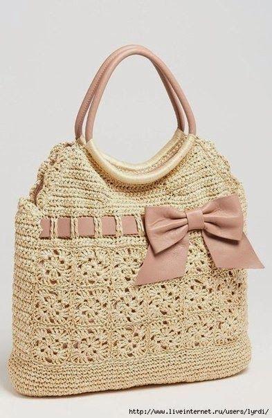 Crochet y dos agujas Patrones de bolso super lindo