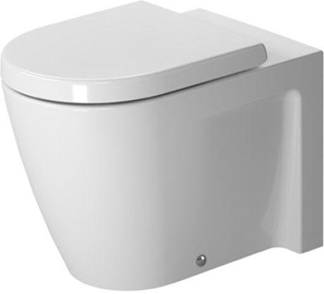 Starck 2 DURAVIT. Inodoro de pie hasta pared, fondo hondo, fijación incl., salida horizontal, Design by Philippe Starck