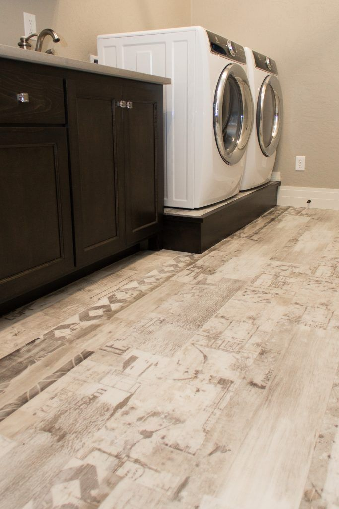 Cream Luxury Vinyl Tile Laundry Room Floor Luxury Vinyl Tile