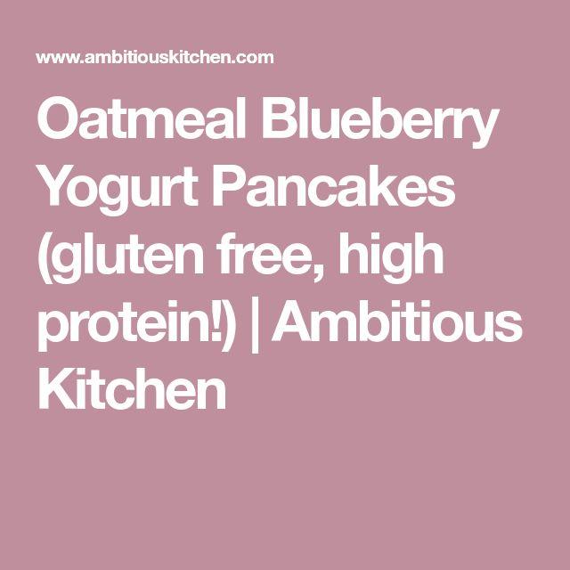 Oatmeal Blueberry Yogurt Pancakes (gluten free, high protein!) | Ambitious Kitchen