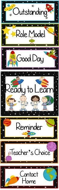 Outer Space Themed Behavior Clip Chart ~ Classroom Management Tool