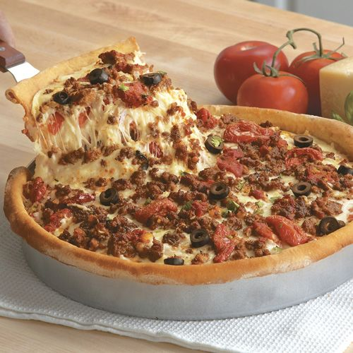 The Holy Bible of Recipes: Chicago Deep-Dish Sausage Pizza