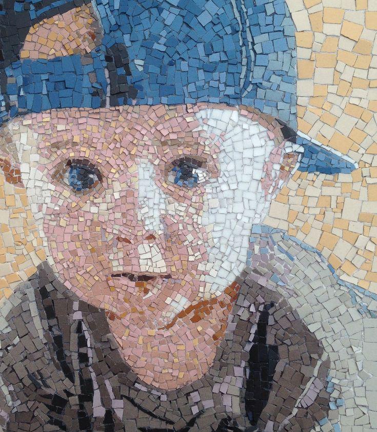 Mosaic portrait of a boy - art by Louise, via Flickr