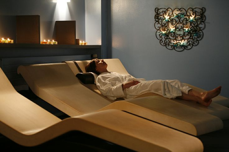 Relaxing in a heated lounger, luxury spa treatment installation from Leisurequip