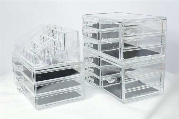 Unique Home Acrylic Jewelry and Cosmetic Storage Makeup Organizer Set 4 Piece #UniqueHome