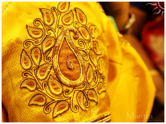 Art comes alive on fabrics ..... Fine gold, sewn with love and care brings all life to it !!!!
