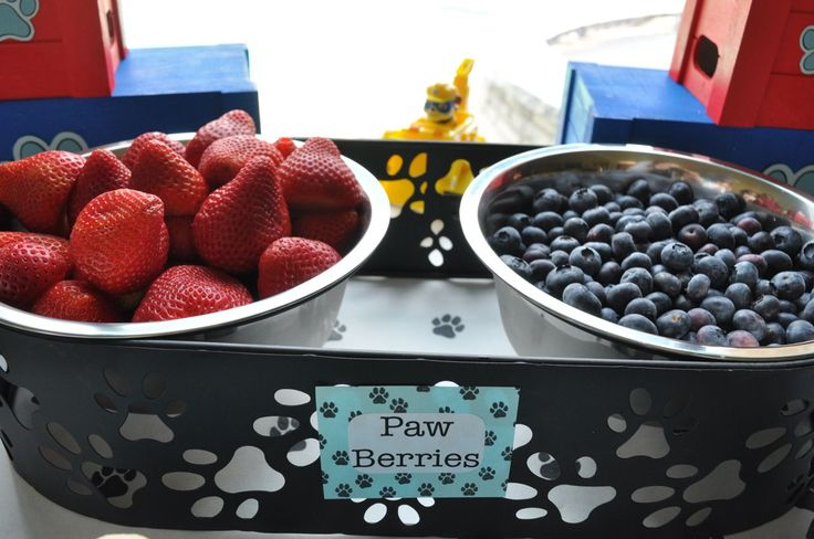 Decorating Ideas from a Paw Patrol Birthday Party #pawpatrol #pawpatrolideas #snacktable