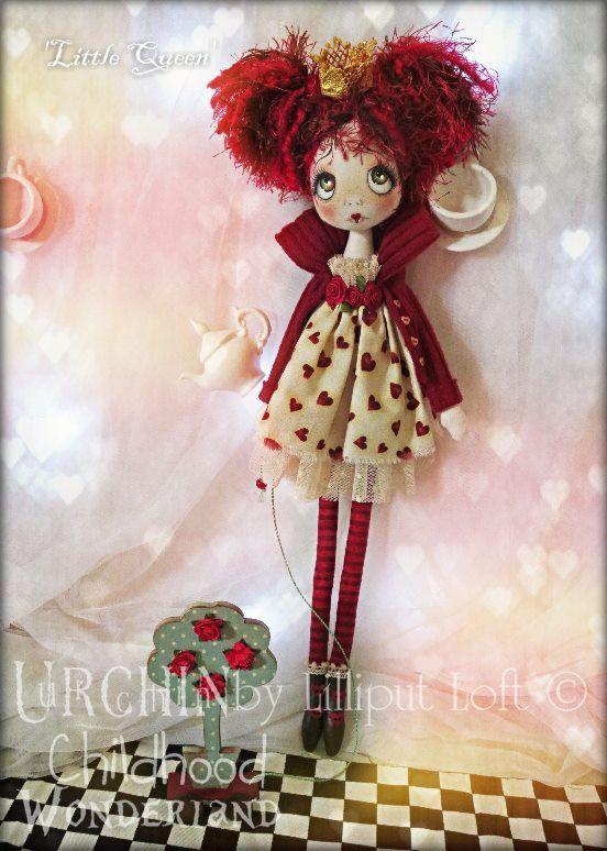 Little Queen OOAK cloth Art Doll by Lilliput Loft