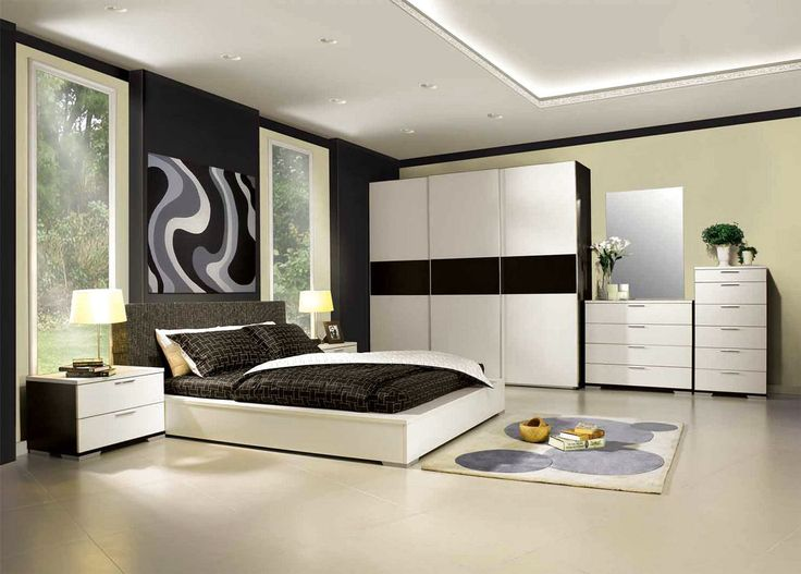 Contemporary Bedroom Bedroom Interior With Modern Furniture