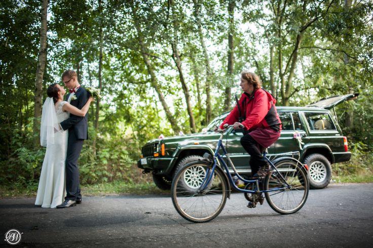 #wedding #portrait #car #bike #portret #slubny #sesja #slubna #rower #droga #tworzyjanki #stary #folwark