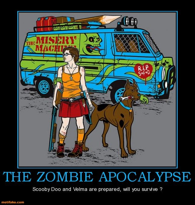 The Zombie ApocalypseZombies Apocalypse, Monsters Hunters, The Artists, Geek Girls, Punk Rocks, Rocks Stars, Scooby Snacks, Scooby Doo, Scoobydoo