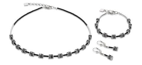 Geo Cube half mini silver necklace, bracelet and earrings 4772_1700
