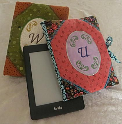 E Reader Covers! Stylish gift idea for people of all ages. These are done in a 200x300 hoop