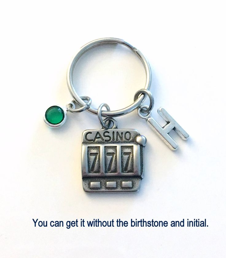 Casino Slot Machine KeyChain, Gift for Gambler's Keyring, Good luck Key chain Initial present women Las Vegas Girl Stag Her stagette him men by aJoyfulSurprise on Etsy