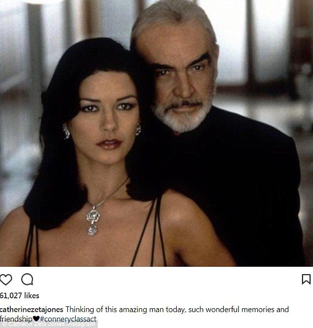 Catherine Zeta-Jones panics fans with Sean Connery post  Catherine Zeta-Jones panicked James Bond fans on Tuesday when she took to Instagram to say she was thinking about the amazing actor.  The film icon posted a picture of herself starring alongside Sean Connery 87 in the 1999 film Entrapment with the caption thinking of this amazing man today such wonderful memories and friendship.  Catherines 45 caption seemingly came out of the blue for fans who subsequently filled the comments section…