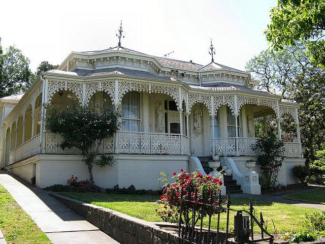 Leichardt House circa 1874. This single level Victorian Italianate villa is one of Hawthorn's finest homes.