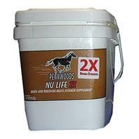 NU LIFE 2X, Size: 25 POUND (Catalog Category: Equine Supplements:SUPPLEMENTS) by PENNWOODS EQUINE PRODUCTS. $117.19. Enhanced formula created to provide nutrional balance for the increased dietary needs of breeding and performance horses. Helps strengthen the immune system and reduces the incidence of retained placenta in bloodmares. Reduces muscle fatique in performance horses. Provides a concentrated yeast culture to improve digestion and feed efficiency. Supplies inc...