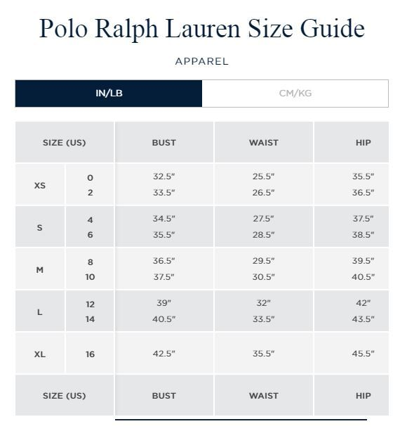 Ralph Lauren Men S Shirt Size Chart In 2020 Polo Ralph Lauren Coat Ralph Lauren Mens Shirts Ralph Lauren Denim