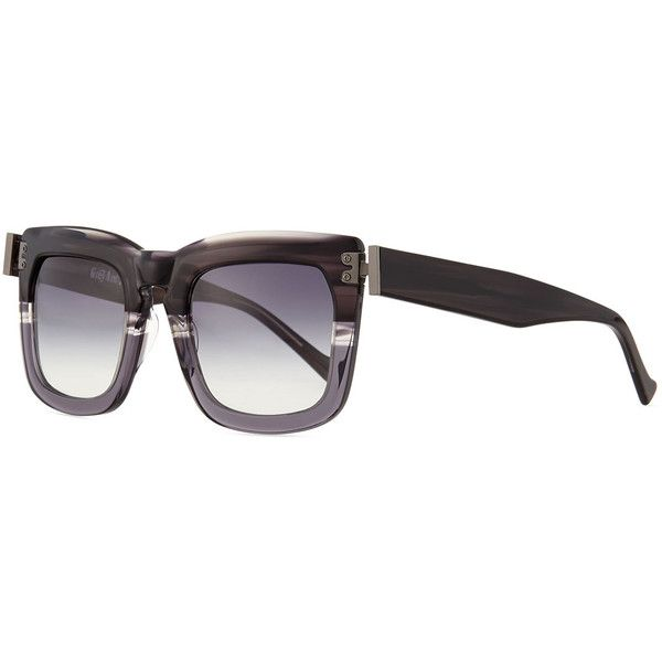 Grey Ant Blitz Square Sunglasses ($492) ❤ liked on Polyvore featuring accessories, eyewear, sunglasses, grey, grey ant sunglasses, square sunglasses, thick glasses, grey ant and gray sunglasses