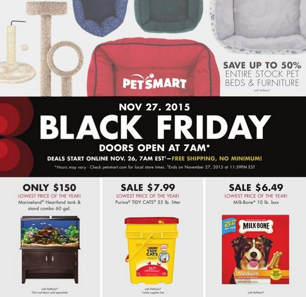 http://blackfriday-deals.info/petsmart-has-releaed-its-2015-black-friday-ad-the-in-store-sale-starts-at-7-am/  PetSmart has releaed its 2015 Black Friday ad. The in-store sale starts at 7 am on Black Friday. Source by shoppersshopBlack Friday Weekend Deals   #best buy black friday deals #best online black friday deals #biggest black friday deals #black friday deals
