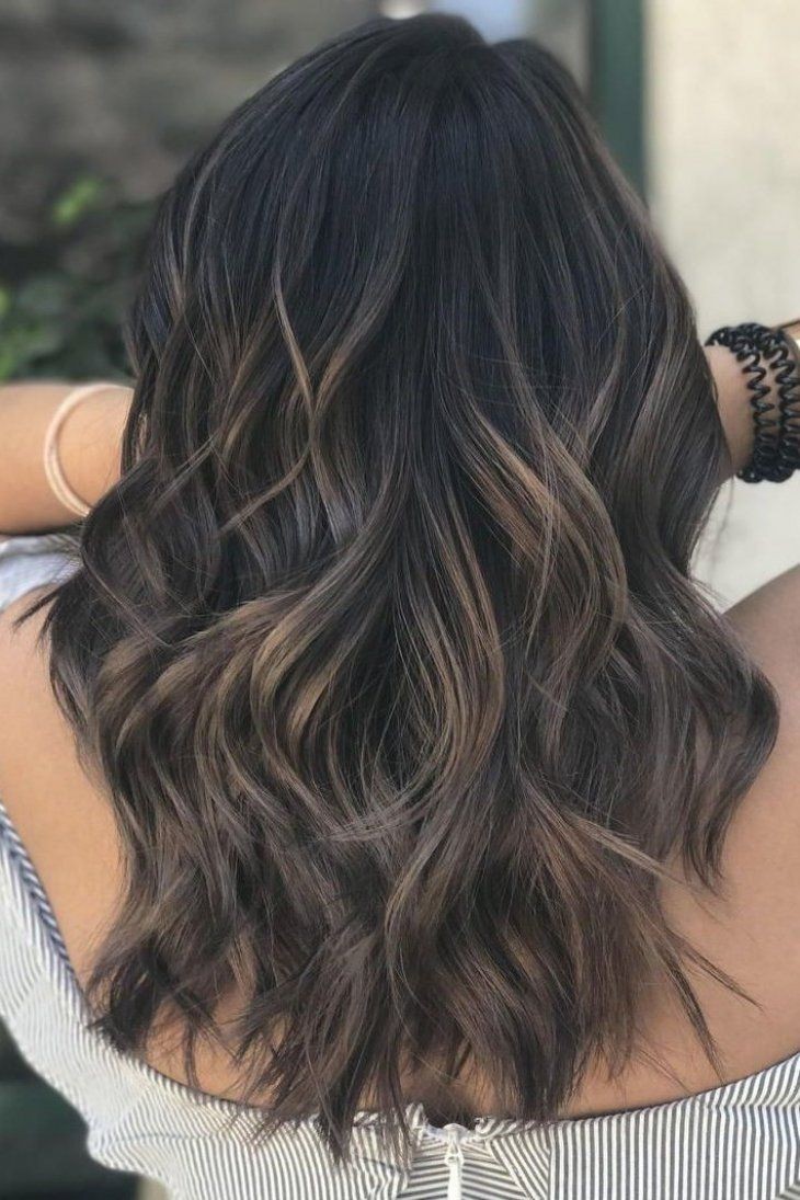Dark Balayage This Ultra Dark Cool Brown Gets Some Beige Blonde And Light Ash Brown Balayage Highlights F Brown Hair Balayage Balayage Hair Brown Hair Colors