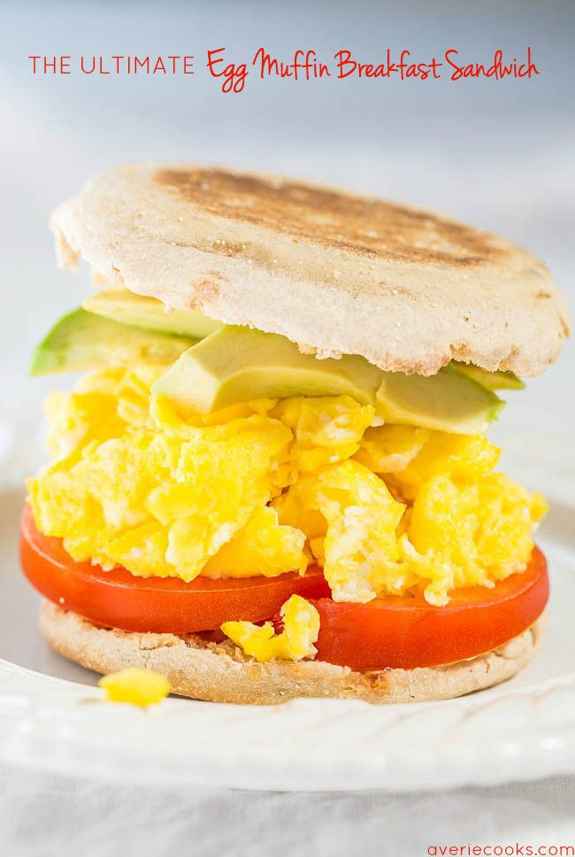 The Ultimate Egg Muffin Breakfast Sandwich – Skip the drivethru and make your ow…