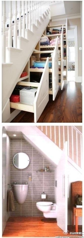 ruimte onder de trap efficiënt invullen