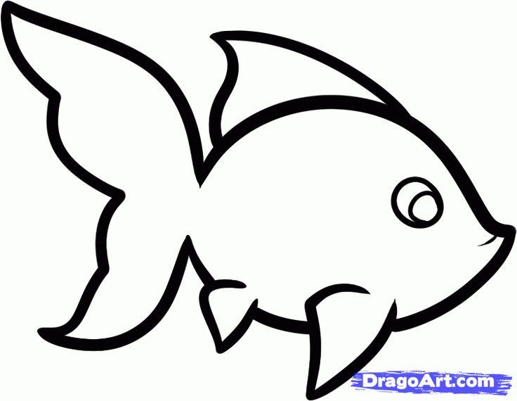 easy drawing drawings fish