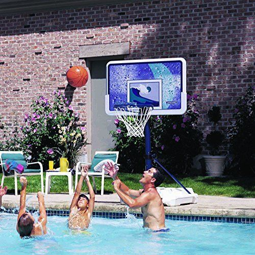 Lifetime 1301 Pool Side Basketball System 44 Inch Backboard Toys Games Fun Pools #Lifetime