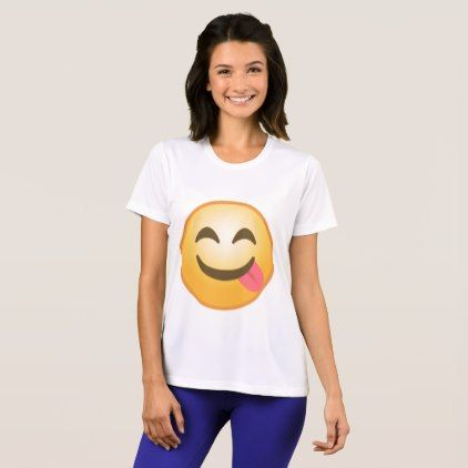 #trendy - #Side Tongue Emoji T-Shirt