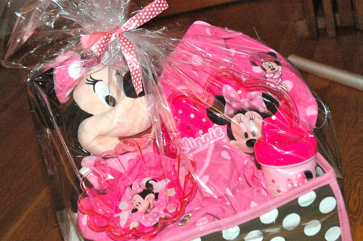 Gift Basket Ideas For 1st Birthday First Girl Wrapped