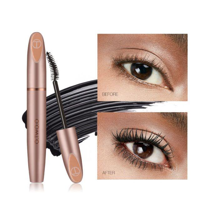 ec5f76752fd 4D Silk Fiber Eyelash Mascara Curling Thick Eye Lashes   Makeup for ...
