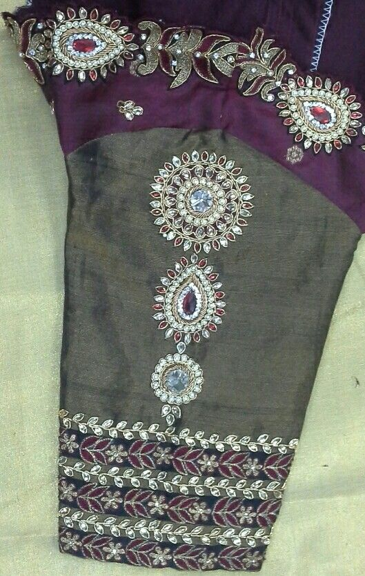 Elbow length hand with maggam work 91 9866583602 whatsapp no 7702919644