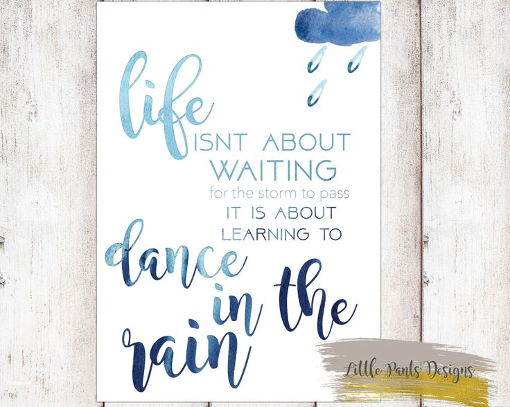 Dance in the Rain Blue Watercolour Downloadable Print Graphic Digital Decor Print Nursery elegant by LittlePantsDesigns on Etsy https://www.etsy.com/listing/450231280/dance-in-the-rain-blue-watercolour
