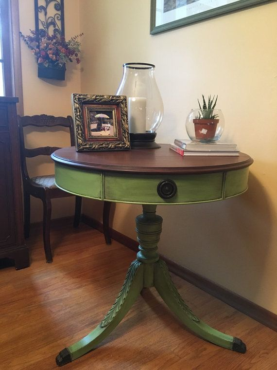 Duncan Phyfe Style Drum Table
