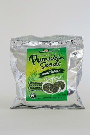 Natural, raw, whole pumpkin seeds grown in Australia........Natural, raw, whole pumpkin seeds grown in Australia. Our Pumpkin Seeds are a super food, high in nutrients such as magnesium, iron and zinc, protein, fibre and essential fatty acids for energy, immune support, reduced cholesterol, lubricated joints and healthy skin.